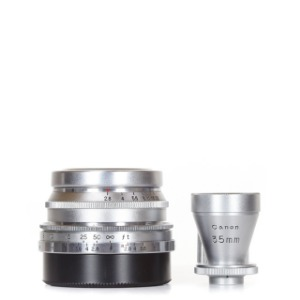 Canon L-35mm f/2.8 + Finder Silver